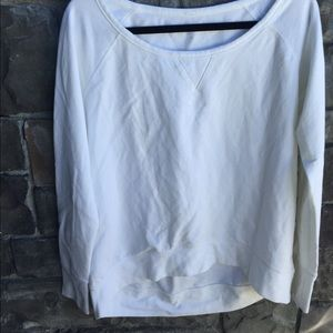 Under Armour white pullover